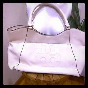 White summer Tory Burch top handle